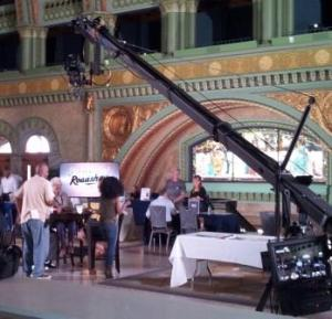 Genealogy Roadshow tapes at Union Station in St. Louis.
