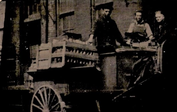 Max-on-right-bottle-wagon~1920s edited